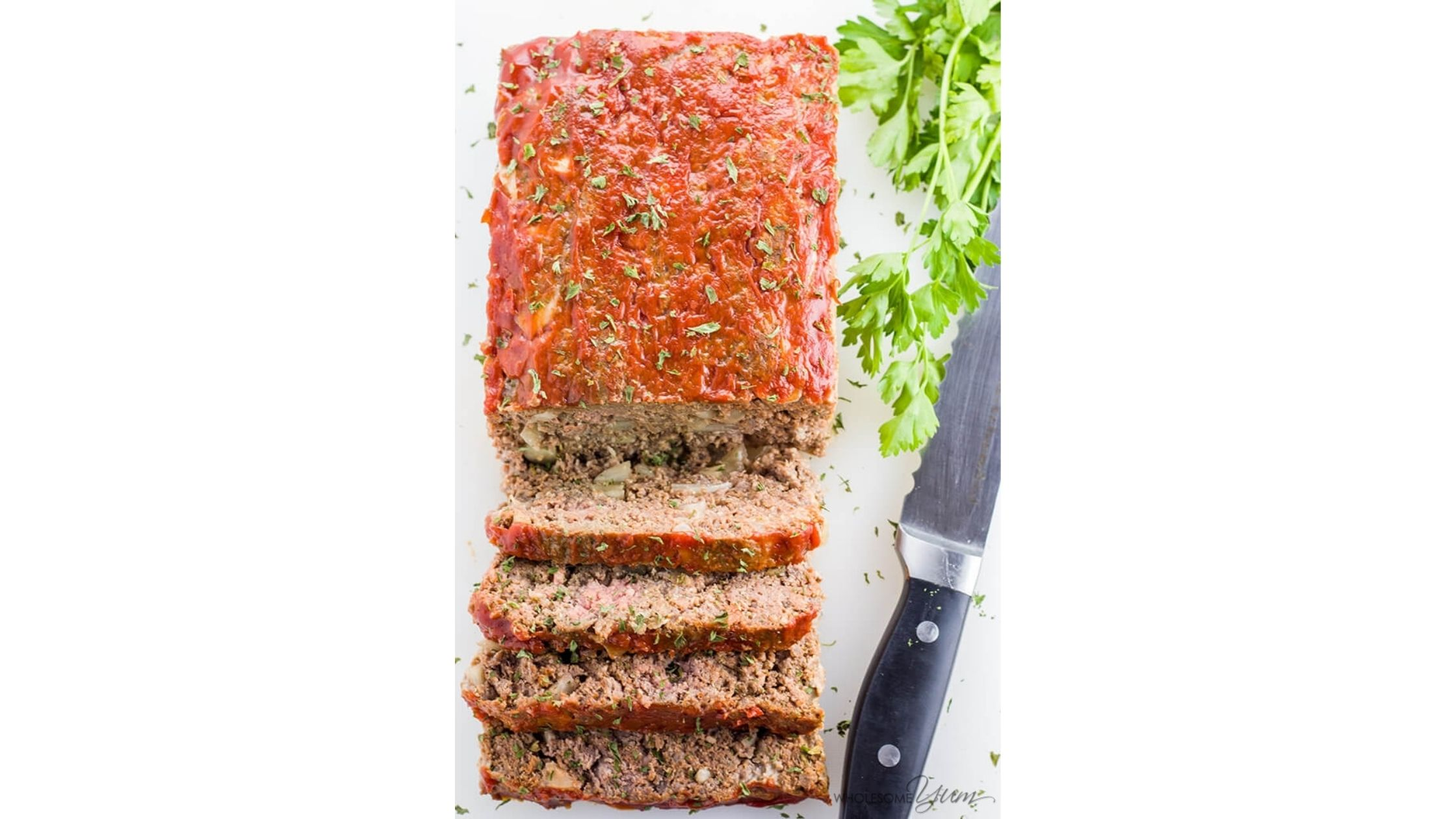 Paleo keto low carb meatloaf recipe by Wholesome yum
